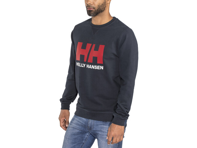 Helly Hansen HH Logo Sweat-shirt à col ras-du-cou Homme, navy